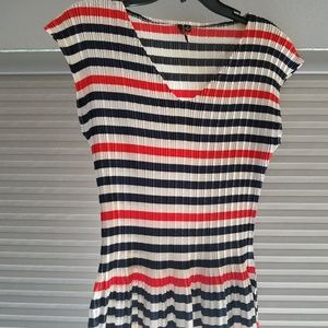 Red, whit & blue top